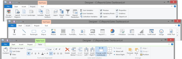 <strong>Office 2013 Ribbon Style</strong>: The ribbon menu has received a complete makeover, creating a fresh, streamlined and intuitive interface with flat icons.