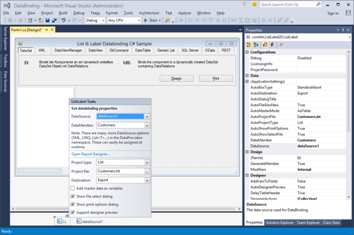 <strong>List & Label fully supports Visual Studio 2015</strong>: Seamlessly integrate List & Label reporting functionality into the latest Visual Studio 2015 release.