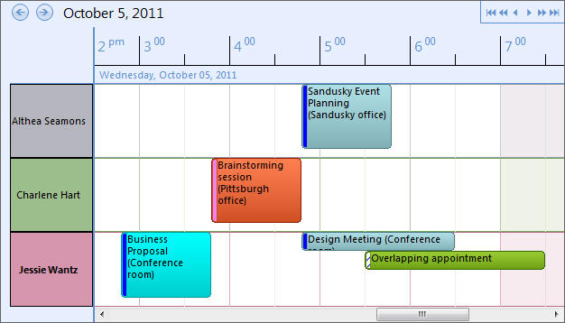 <strong>Schedule View</strong>: Time is Displayed Like the Schedule View in Microsoft Outlook 2010.<br /><br />