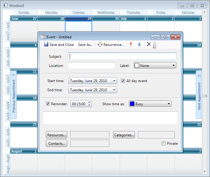 Scheduler for WPF: Implement your own scheduling apps straight out-of-the-box with Scheduler for WPF.