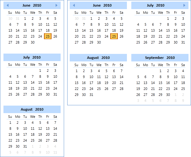 Calendar for WPF: Create date-driven dashboards and scheduling apps with Calendar for WPF.