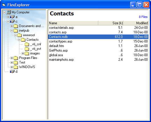 <strong>Explorer</strong>: Build an Explorer-like interface, populated on demand.Use the FlexGrid control to build an Explorer-like interface, with a tree on the left showing the directories and a list on the right showing files.<br /><br />