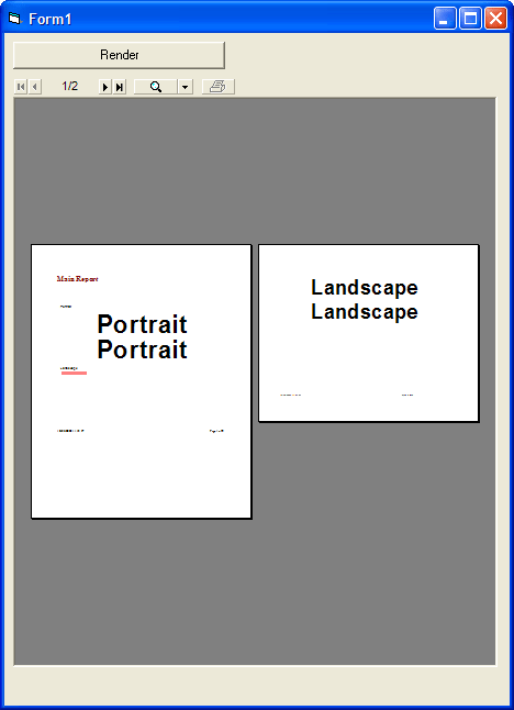 <strong>Portrait or Landscape</strong>: Render your reports in either Portrait or Landscape<br /><br />