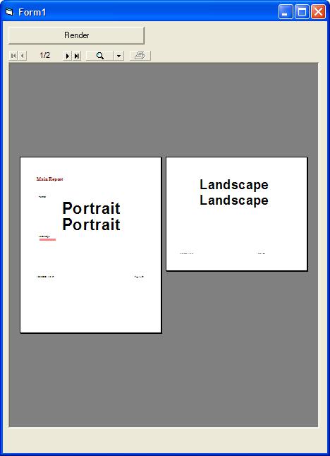 <strong>Portrait or Landscape</strong>: Render your reports in either Portrait or Landscape<br /><br />