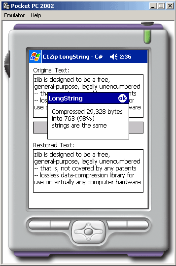 <strong>LongString</strong>: Zip data from a Long string.<br /><br />