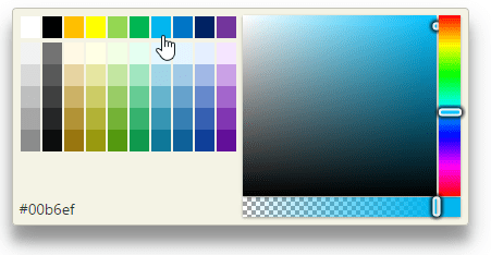 <strong>InputColor and ColorPicker</strong>: InputColor lets users enter and edit HTML colors by typing a valid CSS color string or using a drop-down displaying ColorPicker. <br /><br />