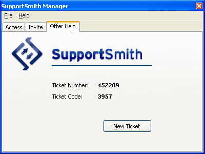 <strong>Screenshot of SupportSmith SDK</strong><br /><br />