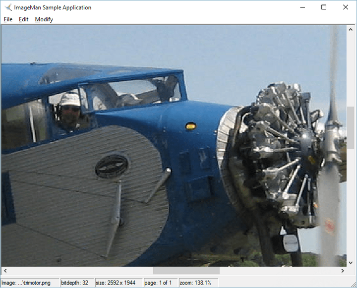 <strong>Zooming</strong>: ImageMan.Net includes user configurable built in Mouse tools for Select, Zoom In, Zoom Out, Rectangle Zoom and scrolling. <br /><br />