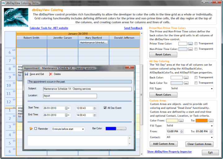 <strong>Create appointment scheduling</strong>: Create appointment scheduling similar to that of Microsoft Outlook with a simplified design interface for developing: Appointment scheduling, In-line appointment editing, Filtering and Grouping, Direct data-management with one data component, Setting presentation styles once for all instances and more.<br /><br />