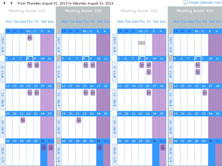 <strong>Screenshot of dbi Calendar Silverlight</strong><br /><br />