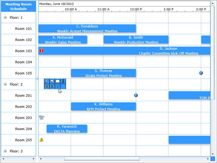 <strong>Screenshot of Solutions Schedule for Silverlight</strong><br /><br />