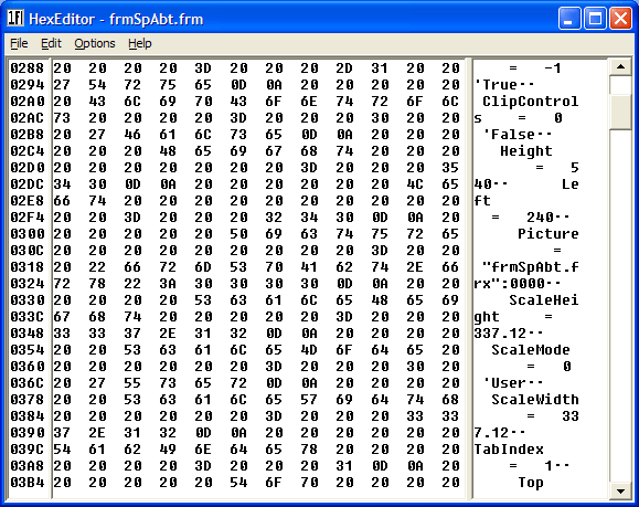 <strong>View Binary Data</strong>: The dwHexEdit Control allows you to view any sort of binary data in a much-more human-readable form.<br /><br />