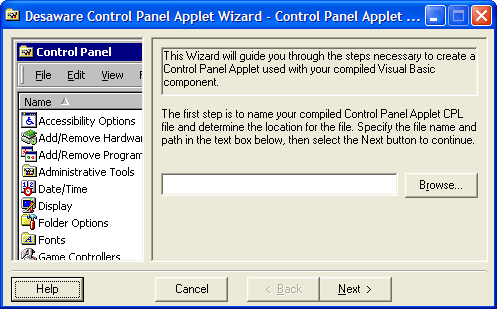 <strong>Control and Configure Services</strong>: You can use control panel applets to control or configure services. This includes a framework for authoring control panel applets that is similar to the one used to create NT services. As with services, it allows you to test and debug your control panel applets using the Visual Basic IDE.<br /><br />
