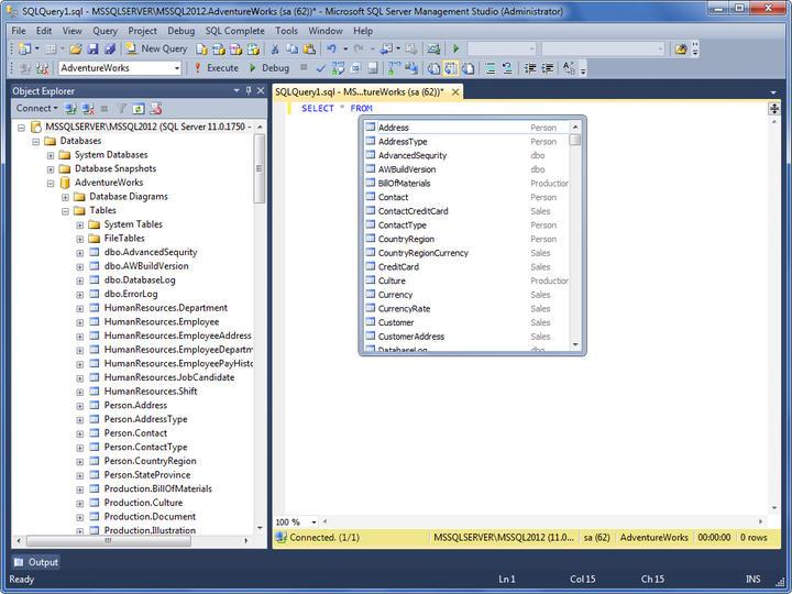 <strong>SQL Server</strong>: dbForge SQL Complete provides full support of SQL Server. <br /><br />