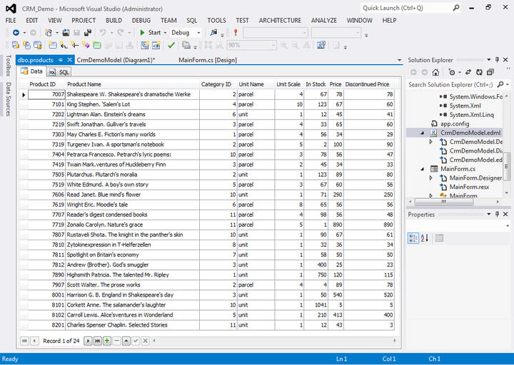 <strong>Data</strong>: Data from a table in Database Explorer.<br /><br />