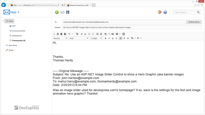 <strong>HTML Mail Client</strong><br /><br />