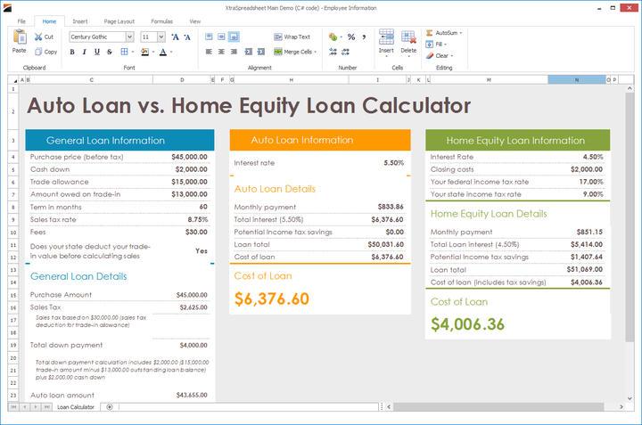 WinForms-Spreadsheet