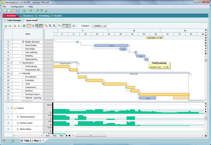 FlexGantt gives the applicatio-developer full control over the timeline: FlexGantt gives the applicatio-developer full control over the timeline, so that non-standard timeline views can be created.