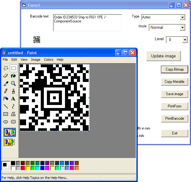 <strong>Copy Barcode Bitmap</strong>: You can copy the barcode (as a Bitmap) and paste it into other applications.<br /><br />