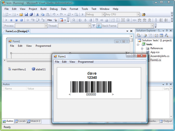 <strong>Screenshot of Labels.NET</strong>: Labels.NET is a Windows Forms Component for the incorporation of label design and/or printing into Windows projects. The component is designed to integrate into Visual Studio.NET.  <br /><br />