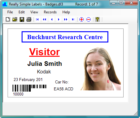 Elements: Supports text, shape, line and picture elements and most common barcode types including postal types.