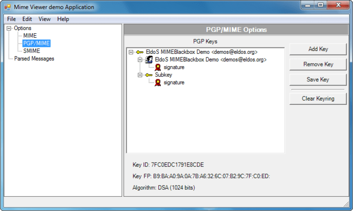 <strong>Screenshot of SecureBlackbox VCL Data Security - Vendor</strong><br /><br />