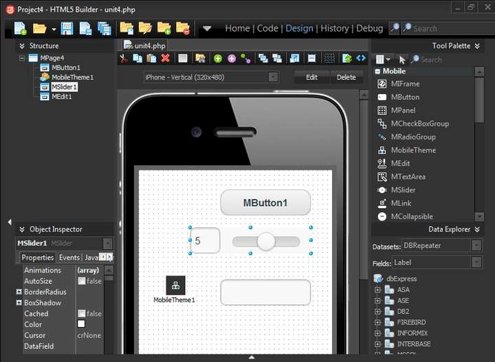 <strong>Screenshot of RAD Studio XE7 Professional</strong><br /><br />