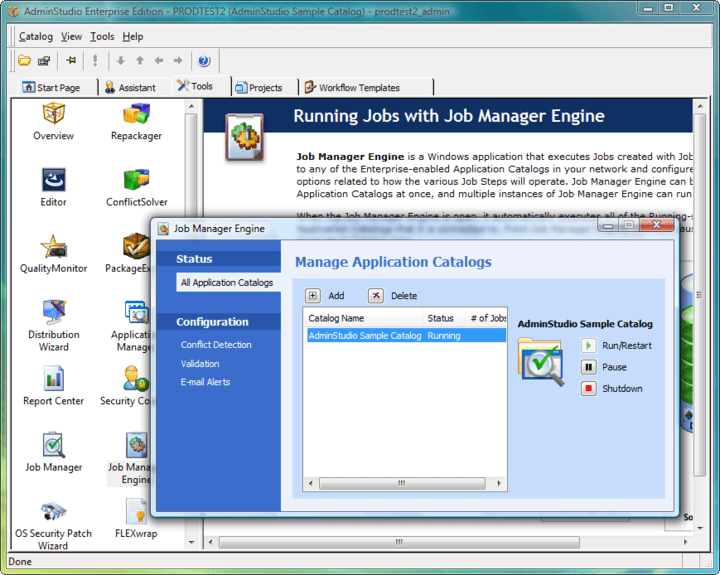 <strong>Screenshot of AdminStudio Standard</strong><br /><br />