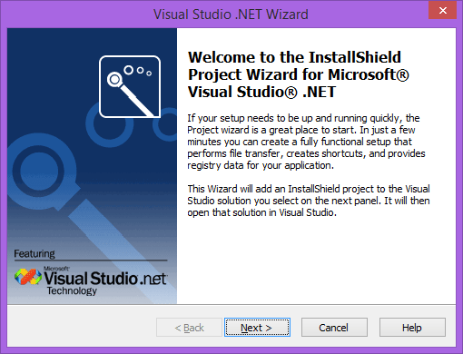 Visual Basic .NET, C# .NET, and C++ .NET Project Wizards: Jumpstart the installation process for your Microsoft .NET solution by browsing to it and letting a wizard run.