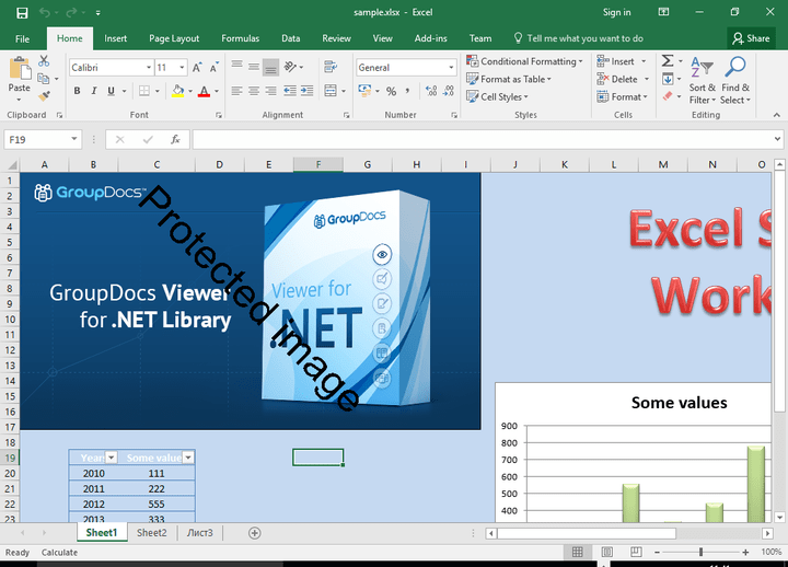 <strong>Excel Document Watermark</strong><br /><br />