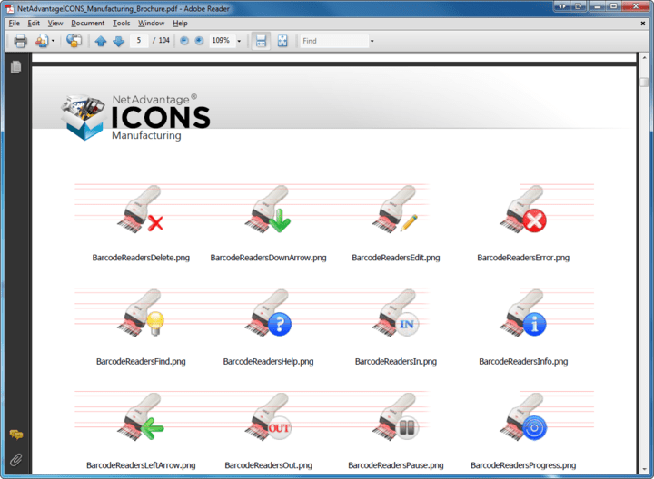 <strong>Icon Sizes</strong>: NetAdvantage Icons includes icons in seven different sizes (16px, 24px, 32px, 48px, 64px, 128px and 256px square)<br /><br />