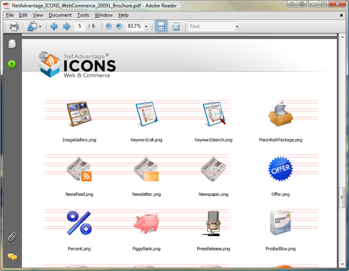 <strong>Icon Formats</strong>: NetAdvantage Icons includes icons as PNG files, plus an ICO file.<br /><br />