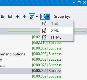 <strong>Exporting Test Results</strong>: Results of a test session run can be exported to plain text, HTML or XML. Export data includes test names, run results, and error information in case of test failure.<br /><br />