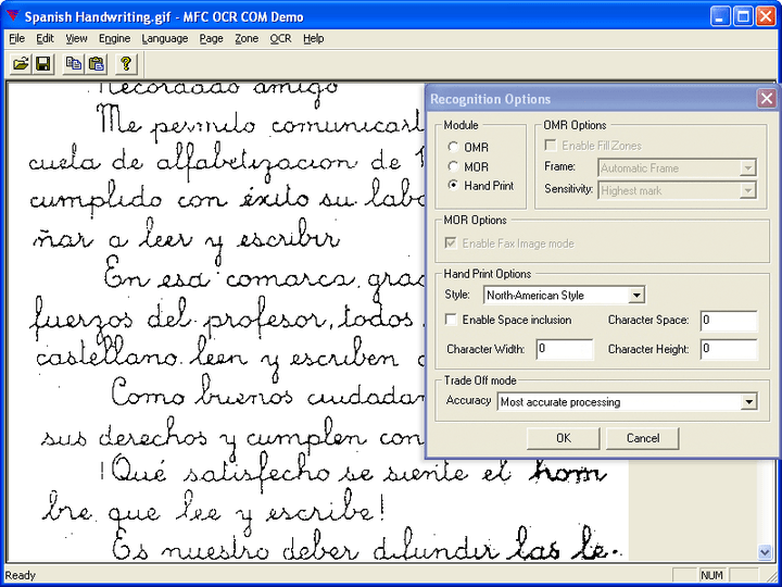 Multilingual ICR support