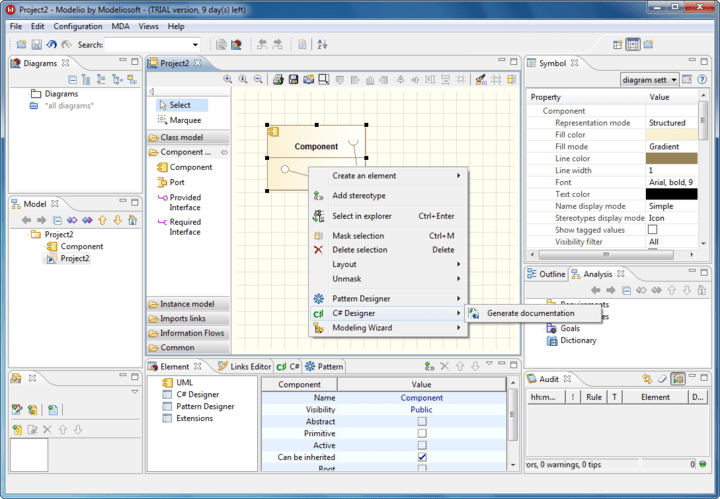 <strong>Screenshot of Modeliosoft C++ Solution</strong><br /><br />
