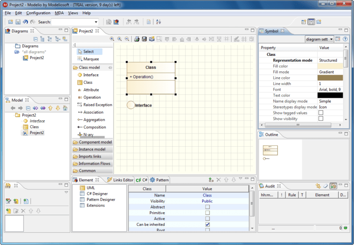 <strong>Screenshot of Modeliosoft Java Solution</strong><br /><br />