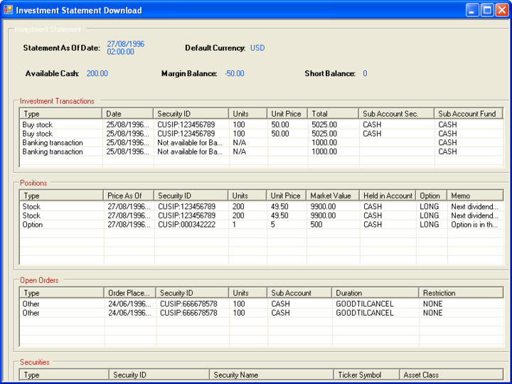 <strong>Screenshot of E-Banking Integrator ActiveX/COM Edition</strong><br /><br />
