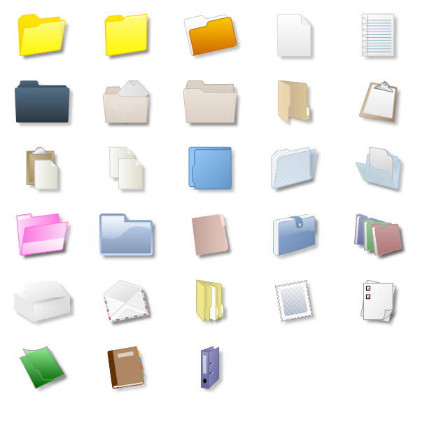 Files and Folders Shapes: Files and Folder Shapes can be used in various diagrams, business organization drawings and general purpose diagrams. Nevron Diagram for .NET implements a myriad of predefined shapes, which can come handy in many types of diagrams. The predefined shapes are consistently created with the help of shape factories.
