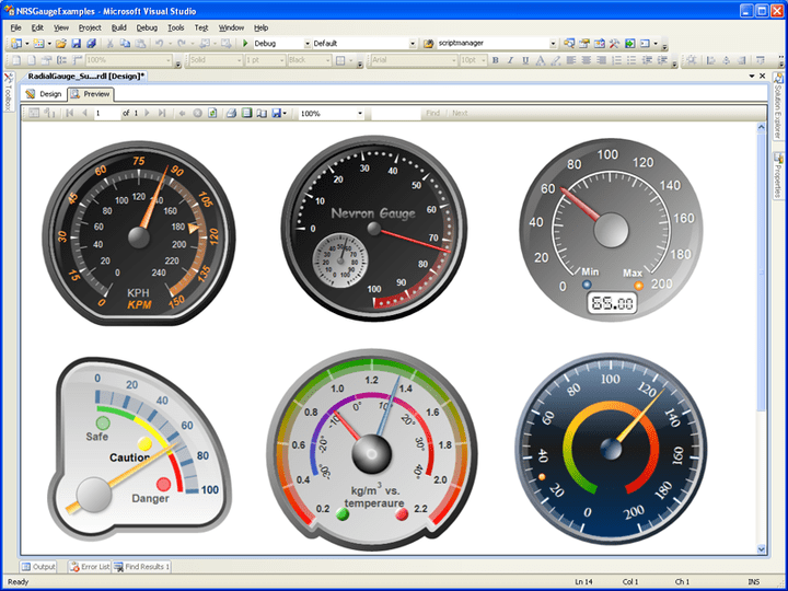<strong>Gauge Types for SSRS</strong><br /><br />