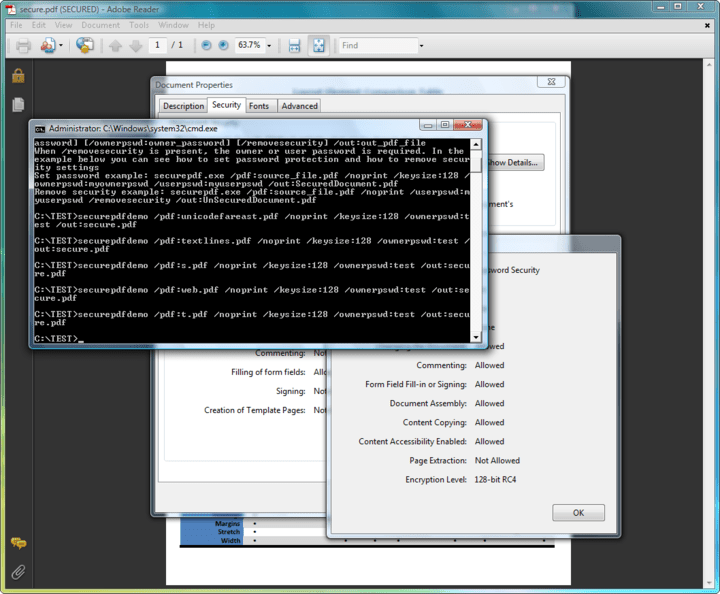 <strong>Screenshot of ExpertPDF Pdf Security</strong><br /><br />