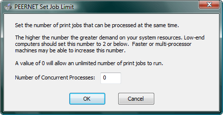 <strong>Set Job Limit</strong>: With TIFF Image Printer you can set the number of print jobs that can be processed at the same time.<br /><br />