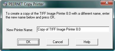 <strong>Copy Printer</strong>: You can multiple instances of the TIFF Image Printer on the same machine.<br /><br />