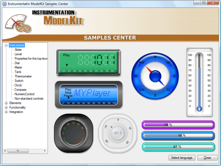 <strong>Screenshot of SharpShooter Gauges.Enterprise</strong><br /><br />