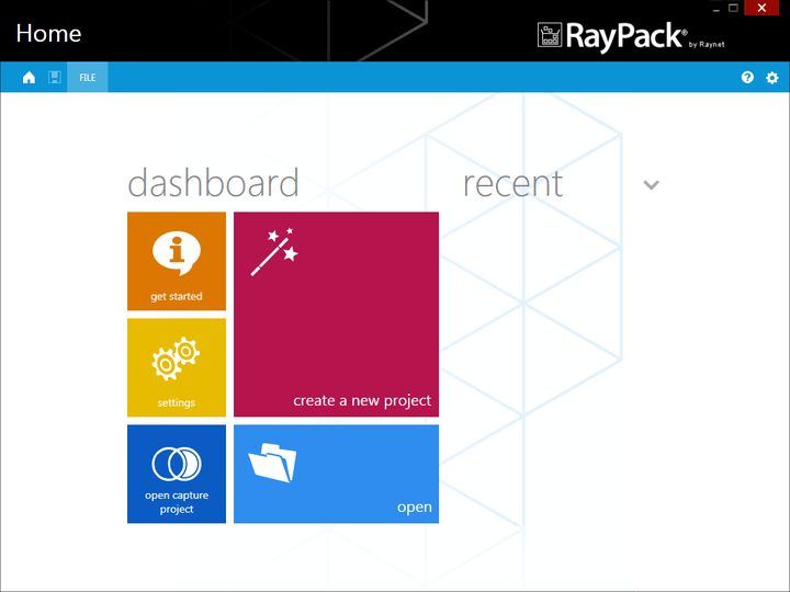 <strong>RayPack Dashboard</strong><br /><br />