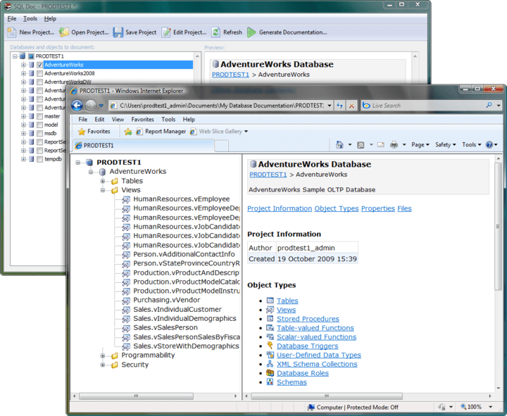 <strong>SQL Doc</strong>: Multiple database documentation.<br /><br />