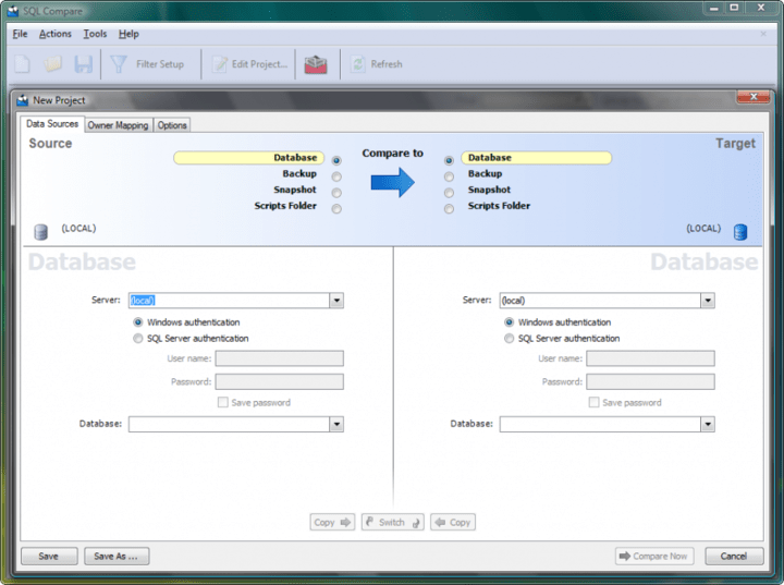 <strong>SQL Compare Pro</strong>: Compare and synchronize database schemas. <br /><br />