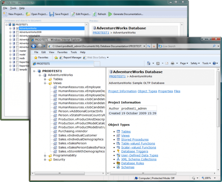 <strong>SQL Doc</strong>: Automatically generate database documentation. <br /><br />