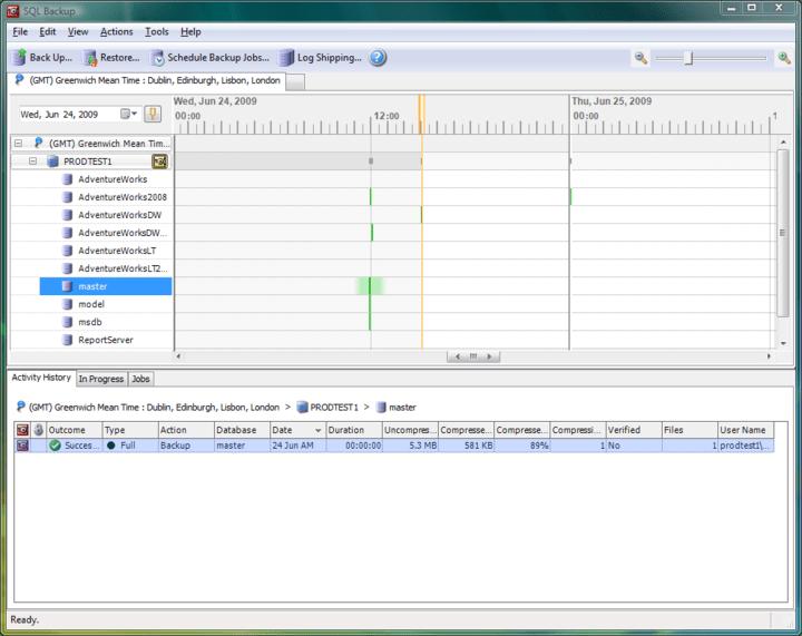 <strong>SQL Backup Pro</strong>: Compress, securely encrypt and strengthen backups - fast.<br /><br />