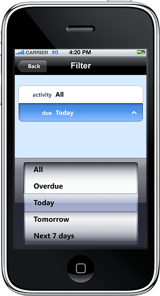 <strong>Date Control</strong>: A demonstration of a Date control used in an iPhone app developed in Resco MobileApp Studio.<br /><br />