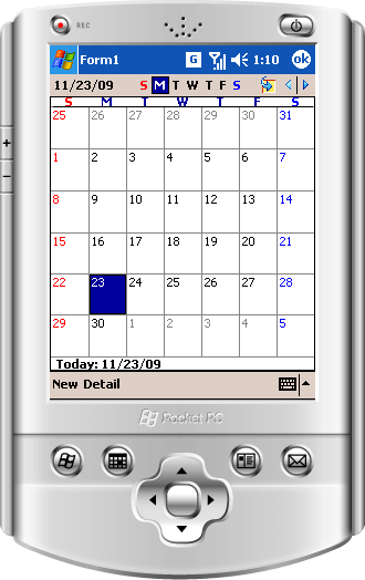 <strong>Outlook Style Calendars</strong>: MonthCalendar for .NET CF - Month/Year scheduling control. WeekCalendar for .NET CF - Day/Week appointment scheduling control.<br /><br />